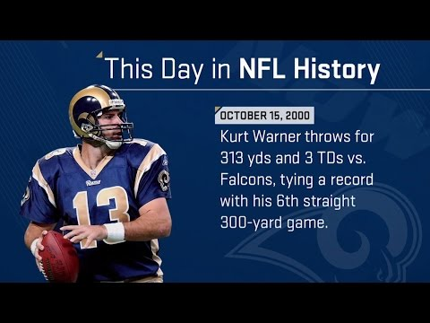 Kurt Warner Ties An NFL Record   This Day in NFL History (10/15/00)