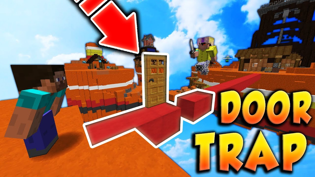 BEDWARS DOOR TRAP TROLL! (Impossible) Minecraft Hypixel