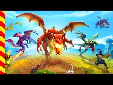 Дракон нападает на людей - мультик для мальчиков. Дракон мультфильм. Динозавр для детей. Игра