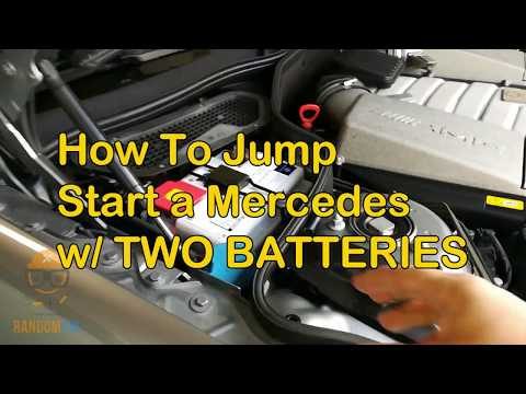 ▶️How to Jump Start Mercedes with Two Batteries SL55 SL500 SL63, S63 S550 S600 2007-2012+