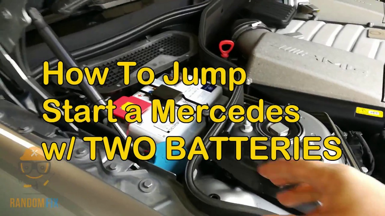 How To Jump Start Mercedes With Two Batteries Sl55 Sl500 Sl63 S63 S550 S600 2007 2017
