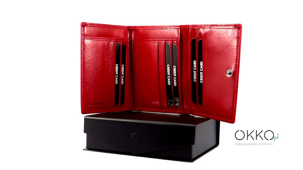 480e0c3aa9cae Skórzany portfel damski - ROVICKY Cristal Collection - 02 - YouTube