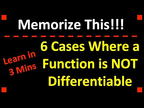 Calculus: 6 Cases Where the Derivative Does Not Exist