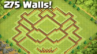 Clash of Clans - BEST Town Hall 10 Trophy Trap Troll Base with 275 Walls! (Tested in Titan) Themis X