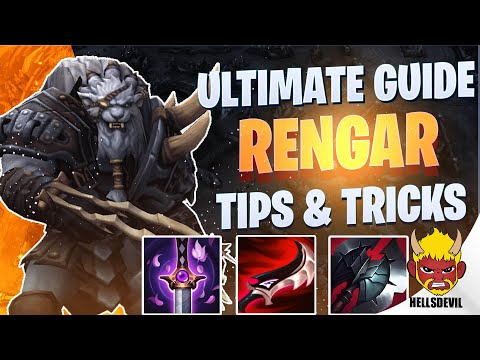 WILD RIFT NEW CHAMPION RENGAR GUIDE   TIPS & TRICKS   Guide & Build