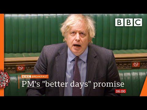 Covid-19: Boris Johnson promises 'one-way road to freedom' 🔴 @BBC News live - BBC