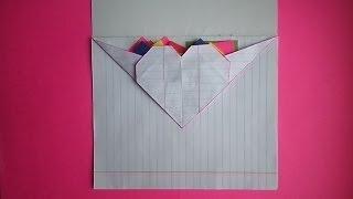 оригами идеи для личного дневника(лд) #4:сердечко-конверт /origami heart envelope