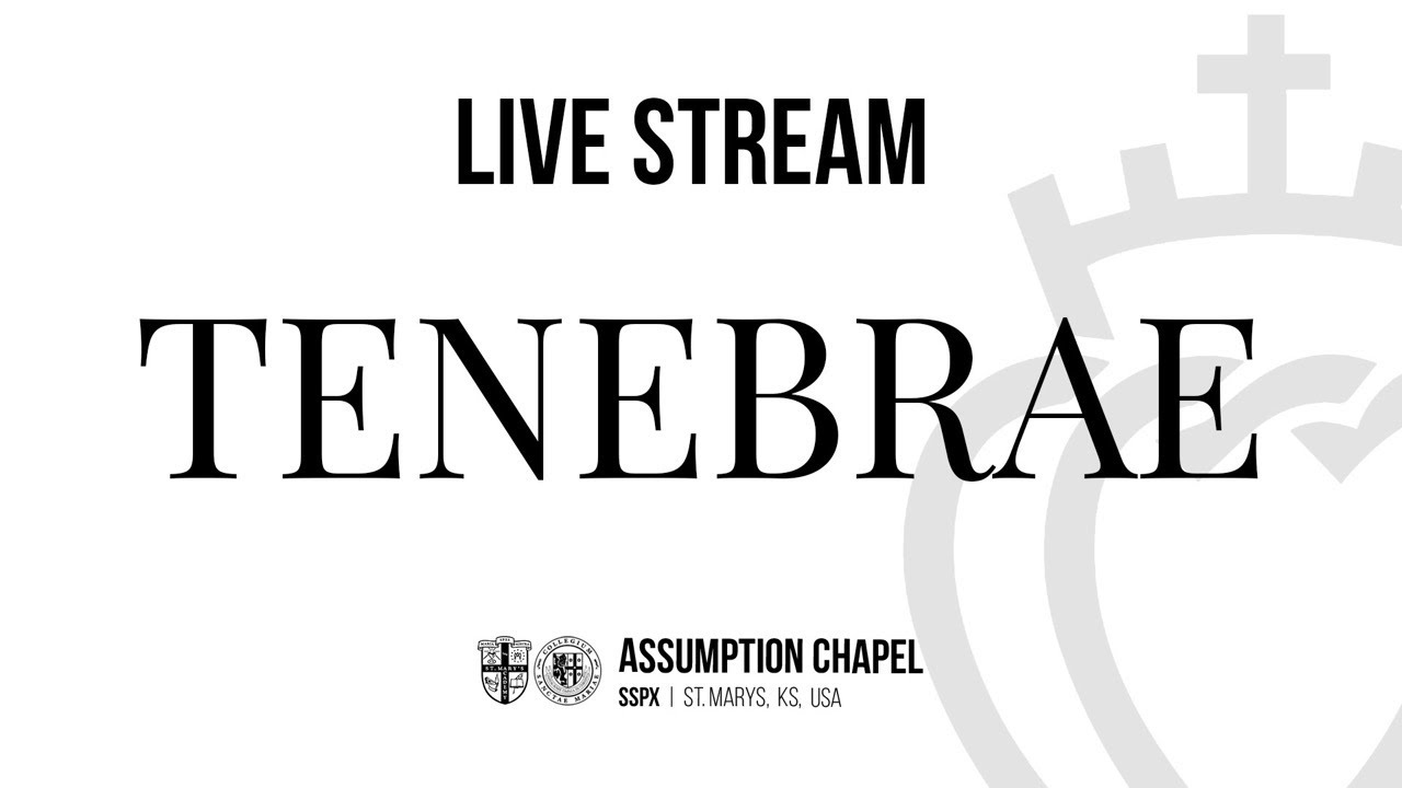 Tenebrae - Friday, April 2, 2021 - Assumption Chapel, Saint Marys, KS
