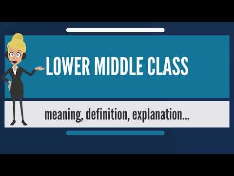 What is LOWER MIDDLE CLASS? What does LOWER MIDDLE CLASS mean? LOWER MIDDLE CLASS meaning