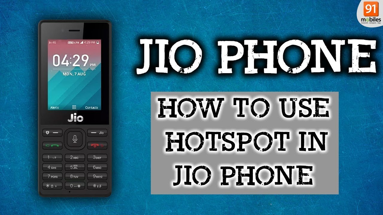 How to turn on the hotspot of jio mobile