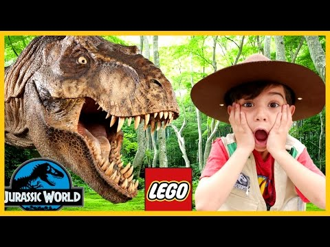 GIANT LIFE SIZE DINOSAUR IRL - LEGO Jurassic World: The Indominus Escape Family Fun Surprise Eggs