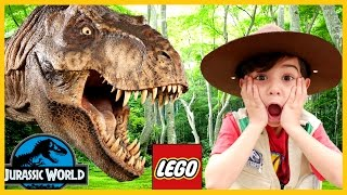 GIANT LIFE SIZE DINOSAUR IRL - LEGO Jurassic World: The Indominus Escape Family Fun Surprise Eggs