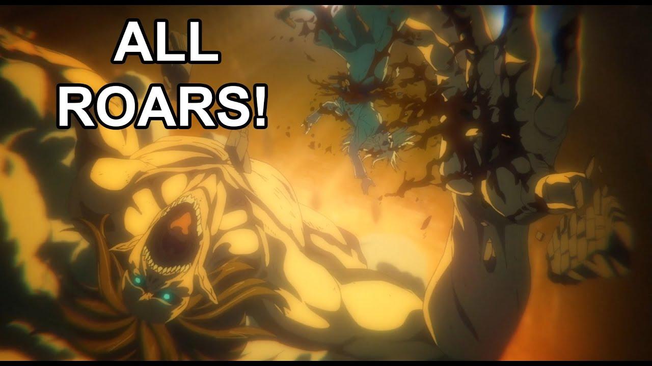 All Eren Titan Roars in Attack on Titan Season 4 Part 1