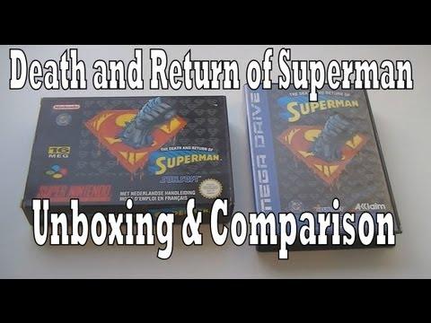 Death and Return of Superman Super Nintendo vs Sega Mega Drive/ Genesis Unboxing & Comparison