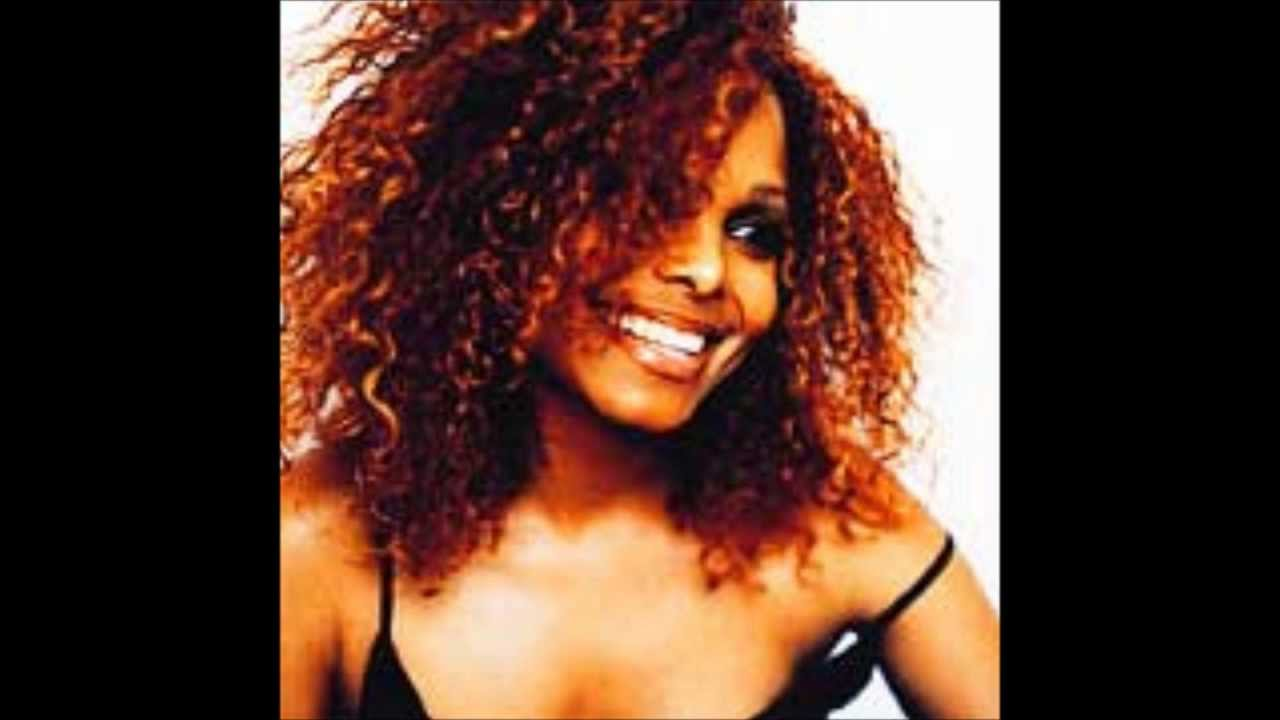 Janet Jackson with red hair