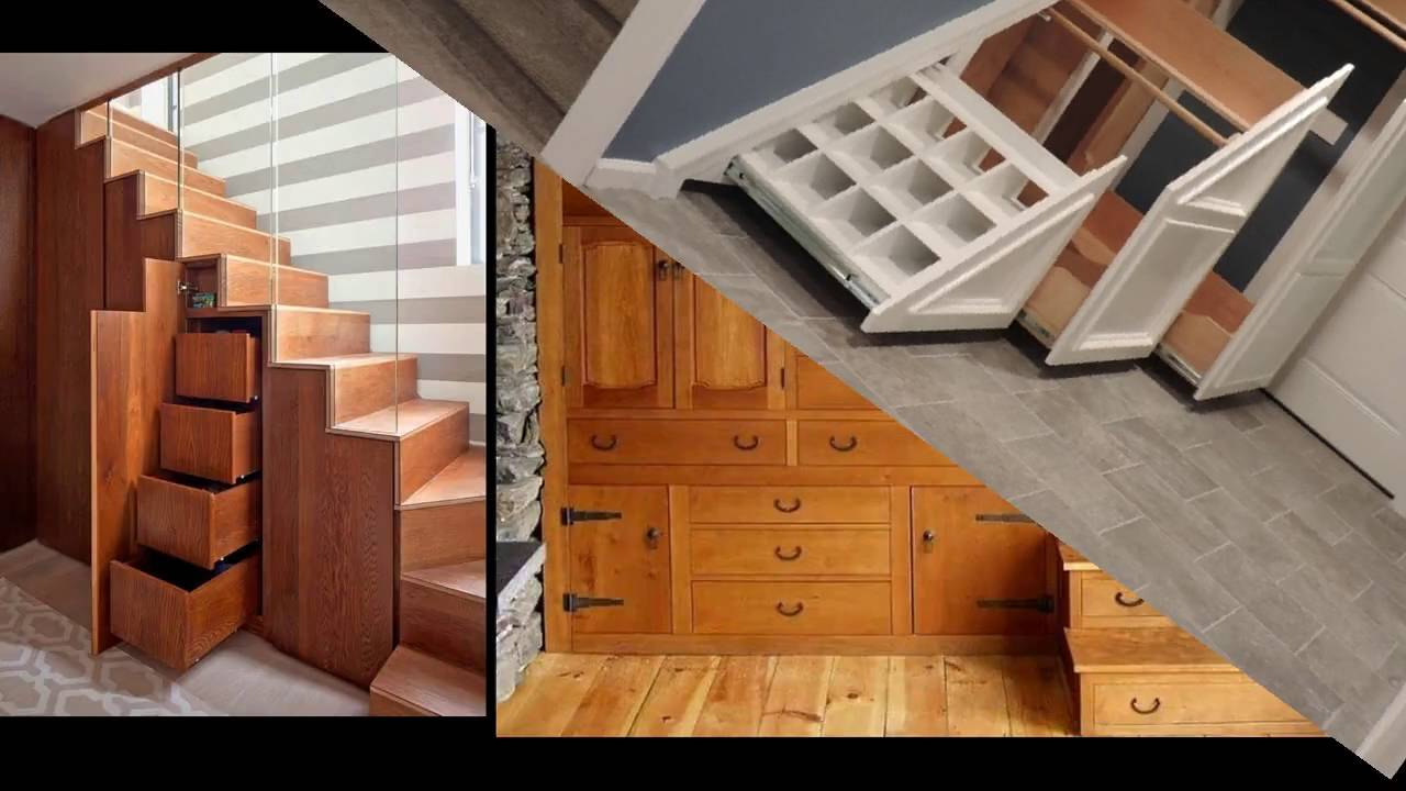 19 Awesome Under Stairs Storage Ideas : Bookshelf U0026 Closet   Room Ideas    YouTube