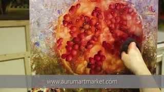 Алый шар - новый видео урок живописи Елены Ильичевой