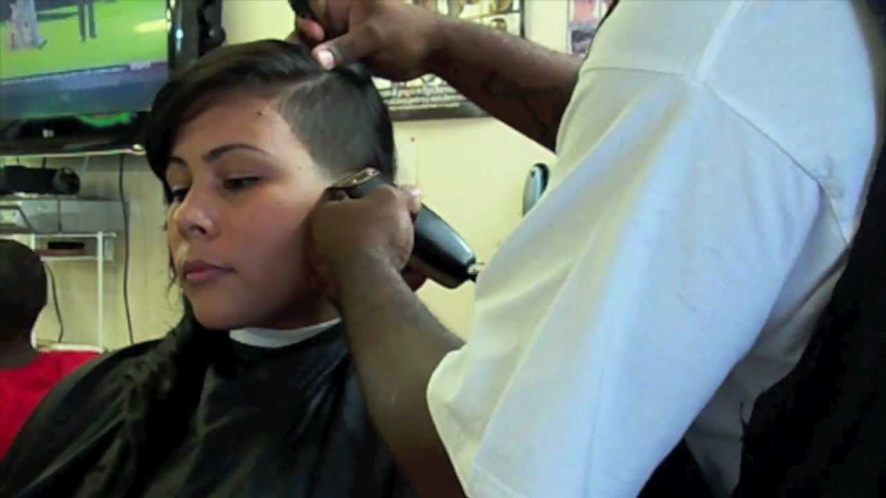 Haircut Design 1 Shaved Side Hairstyle Youtube