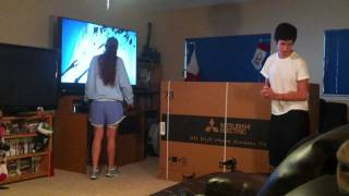 Mom cries over broken television prank!