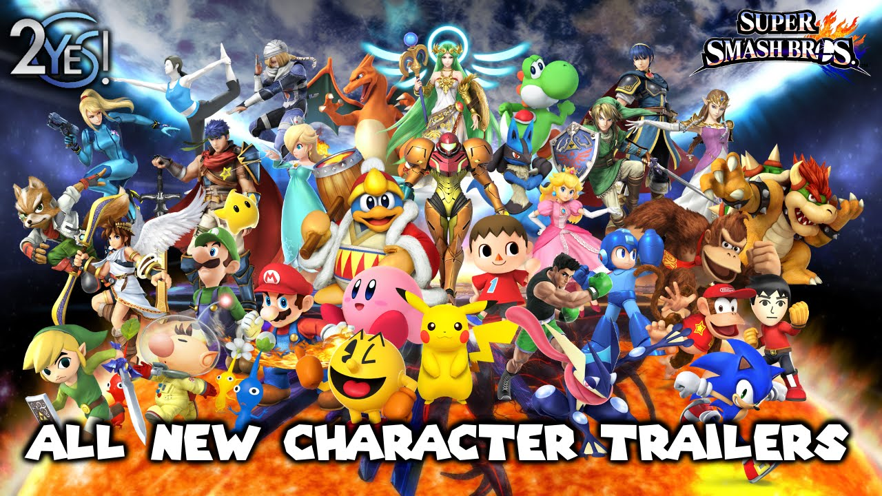 Super Smash Bros 4 - ALL New Character Trailers inc. Duck ...