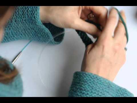 Tricoter En Rond Avec Deux Aiguilles Circulaires Youtube