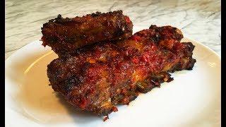Запеченные Ребра / Поджигаем Свиные Ребрышки (Фламбирование) / Праздничное Мясное Блюдо