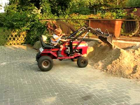 rasentraktor mit frontlader lawn mower front end loader - Garden Tractor Front End Loader Kits