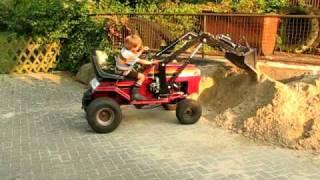 rasentraktor mit frontlader lawn mower front end loader. Black Bedroom Furniture Sets. Home Design Ideas