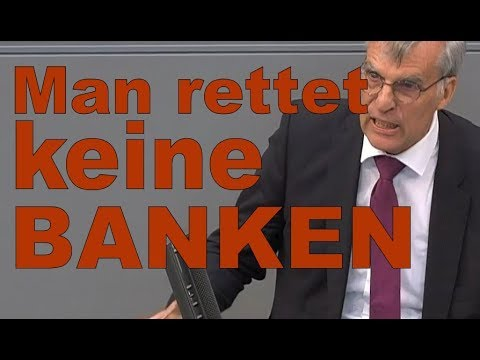 Bundestag : Der Staat hat Banken nicht zu retten  -AFD Dr. Hollnagel