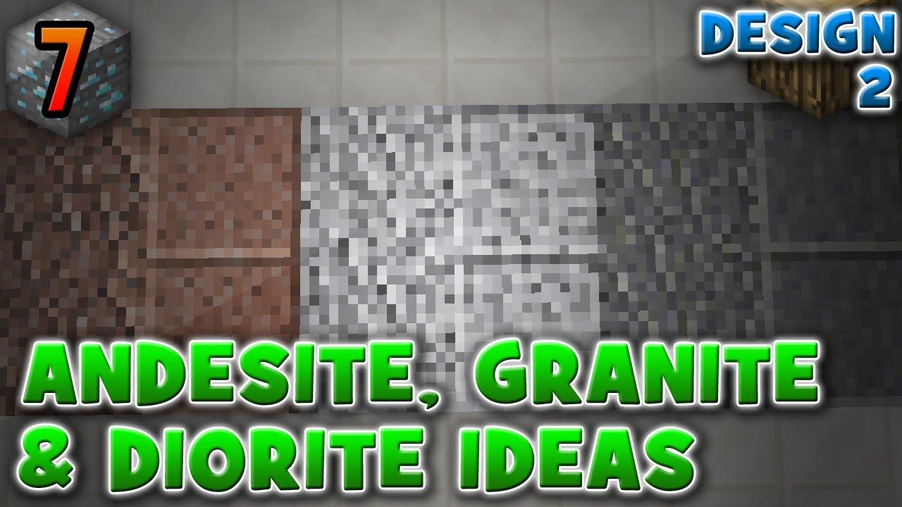 Andesite Diorite Granite Patterns Ideas 1 8 Design 2 Minecraft Mini S 7 Youtube
