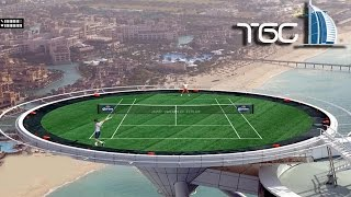 Tennis Elbow 2014 on Top Burj Al Arab in Dubai gameplay - Roger Federer - Rafael Nadal