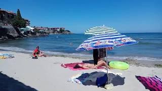 Пляж города Созополь, Болгария.