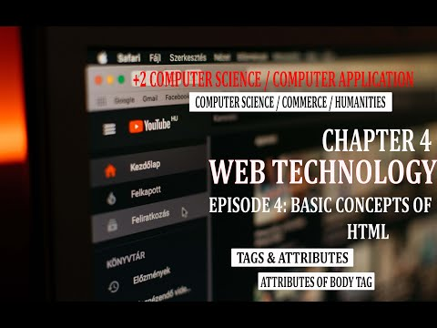 Web Technology Episode 04: Basic Concepts Of HTML