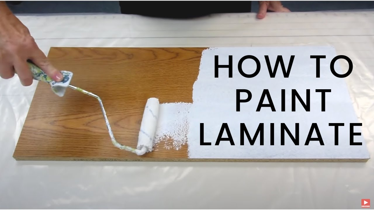 How To Paint Laminate Furniture - YouTube