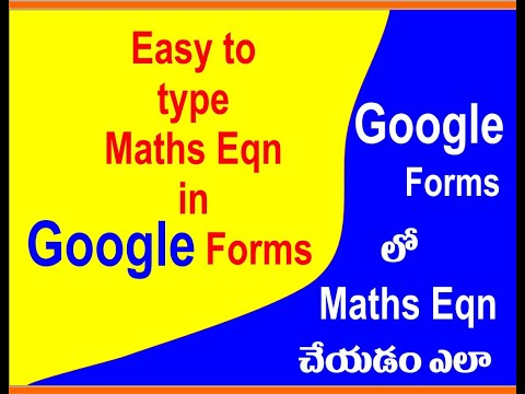 how-to-insert-mathematical-equations-in-google-forms-in-(telugu)