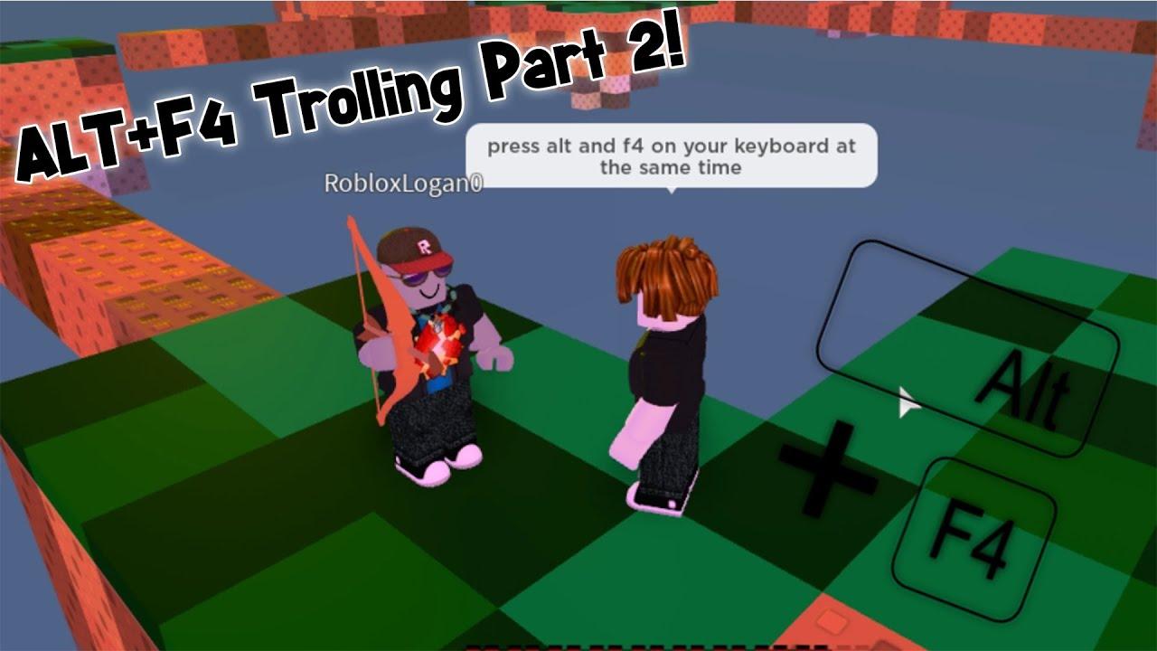 Alt + F4 Trolling Part 2! | Roblox Skywars