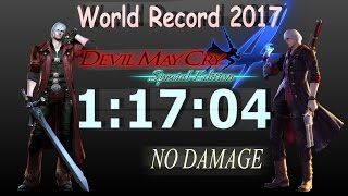 Devil May Cry 4: Special Edition SPEEDRUN 1:17:04 WORLD RECORD (DMC4SE NG DH PC/PS4)