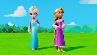 Эльза из мультика Холодное Сердце и Тачки Дисней в игре для детей Elsa