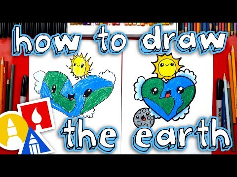 How To Draw The Earth As A Heart 🌎❤️