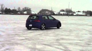 Golf R playing on the ice