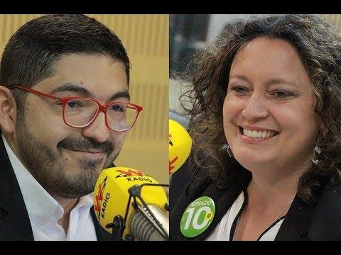 Angélica Lozano y  Oswaldo Ortíz debaten en la W