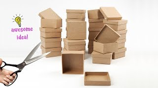 5 CLEVER WAYS TO REUSE/RECYCLE SMALL EMPTY CARDBOARD BOXES! Best Reuse Ideas