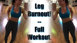At-Home Leg Burnout! | Full Workout