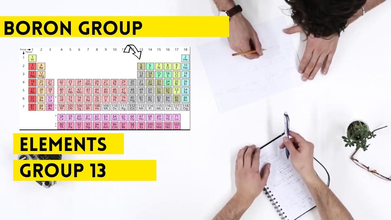 Boron Group Group 13 Periodic Table Youtube