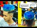 Blond To Bubblegum Blue | Hair Color and Style | Starix /A/