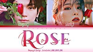 TAEYONG X SEULGI - ''ROSE'' Lyrics 가사 [日本語字幕] (태용X 슬기/テヨンXスルギ) (Color_Coded_HAN_ROM_ENG)