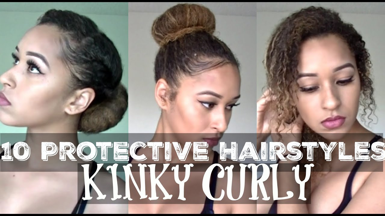 10 Protective Hairstyles For Kinky Curly Hair - Lexi Noelle - YouTube