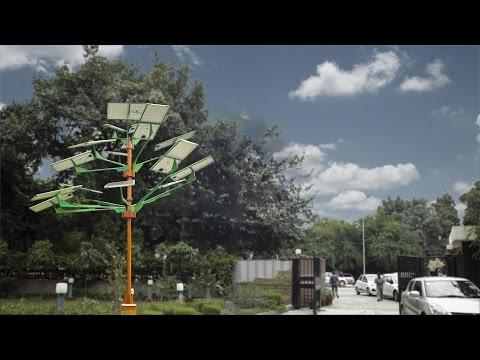 India's first Solar Power Tree