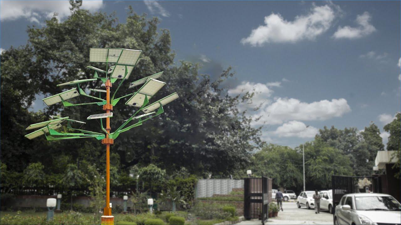 India S First Solar Power Tree Youtube