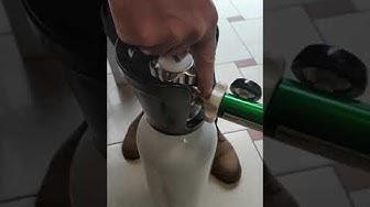 Кратка инструкция. Подготовка на кислородна бутилка к-т за дишане на медицински кислород